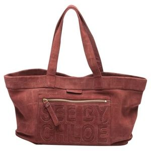 SEE BY CHLOE BURGUNDY TOTE